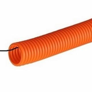 Труба гофрированная рыжая ДКС Труба ПНД гофрированная D25 71925