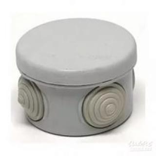 Коробка распределительная круглая 65x45 мм цвет серый