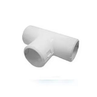 Тройник для труб 32мм (серый)
