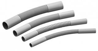 Поворот гибкий гофрированный для труб 20мм (серый)