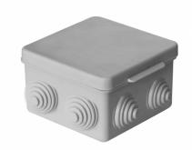 Коробка распределительная 85х85х40 мм цвет серый