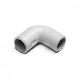 Угол 90° для труб 20мм разборный (серый)